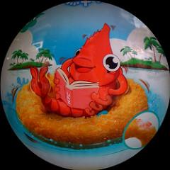 Mr. Shrimp approves of you eating Mr. Shrimp!