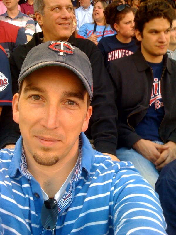 Twins game baby
