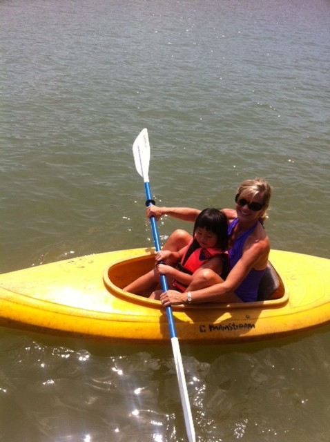 Paddlin' with Aunt Cherie
