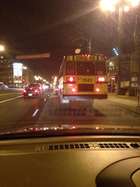 Late night school bus
