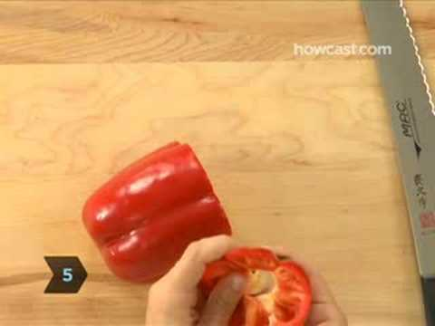 The Coolest Way (Ever) To Cut a Bell Pepper