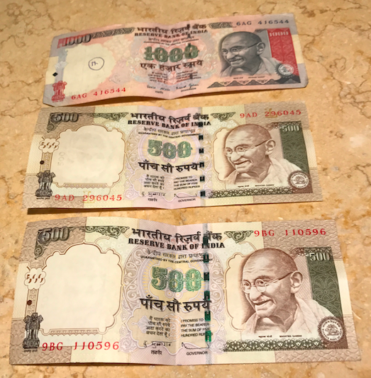 Indian currency abolished